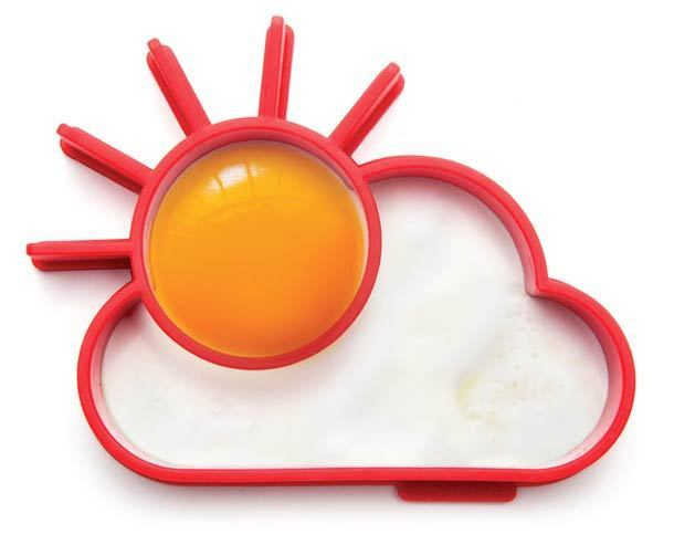 moule oeuf au plat en forme de soleil et nuage