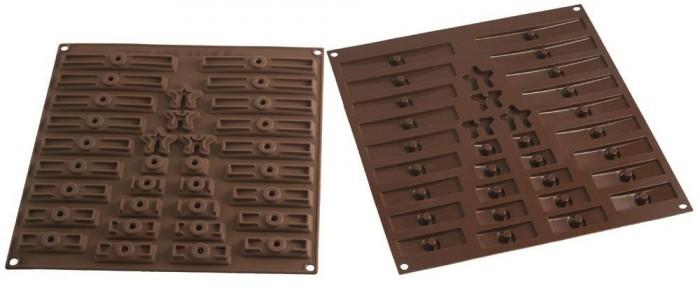 Les 2 moules pour réaliser un sapin de noël en chocolat ou en biscuits