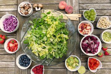 ingrédients pour composer salade